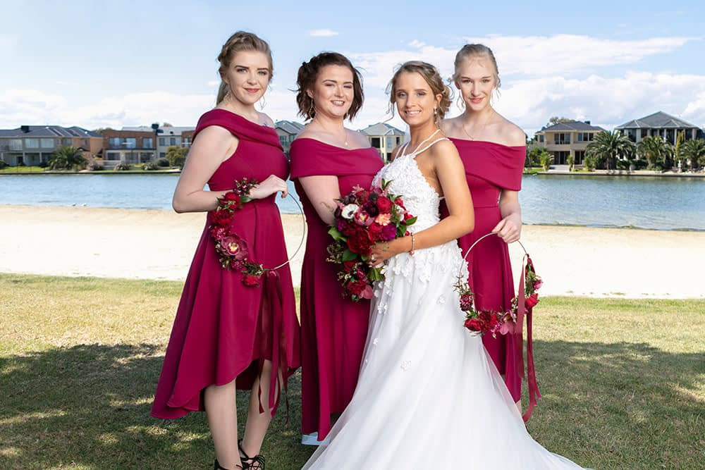 Wedding photography Melbourne bride and bridemaids Kailyn