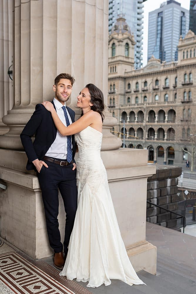 bride and groom at Parliament House