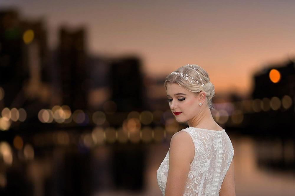 Wedding photography Melbourne bride sunset Tiffany