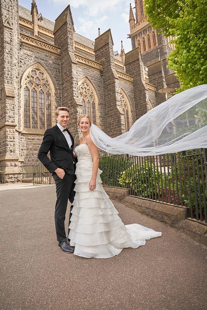 Wedding photography Melbourne church Caley Branden
