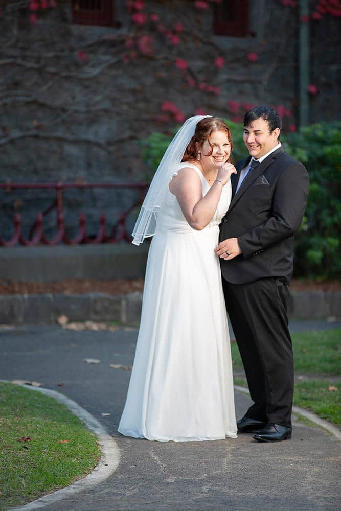 bride and groom at Victoria Barracks Melbourne
