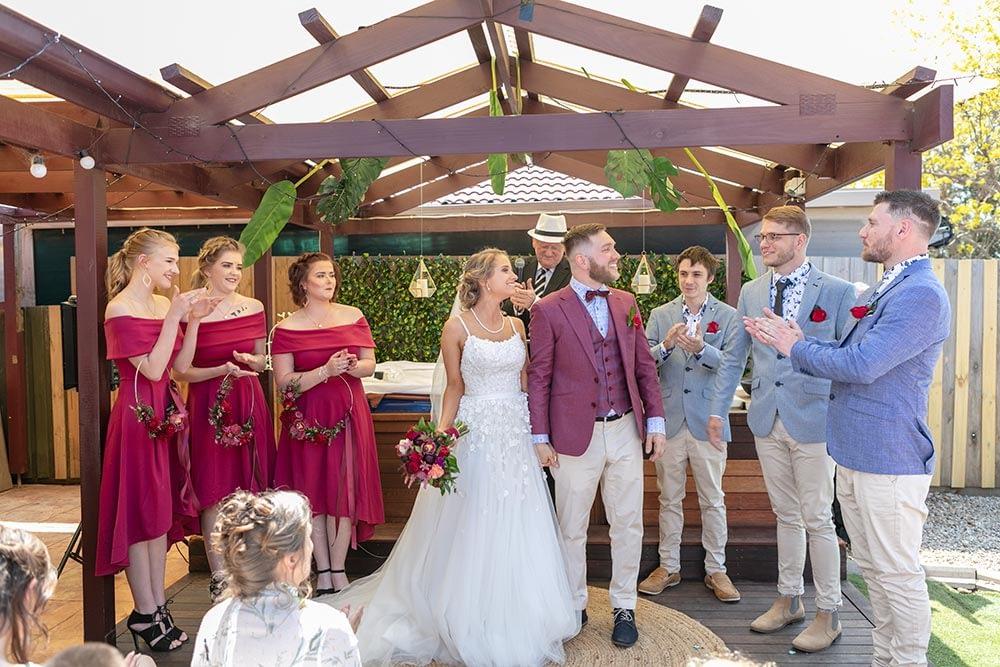 Wedding photography Melbourne Kaityln Levi bride groom ceremony 15