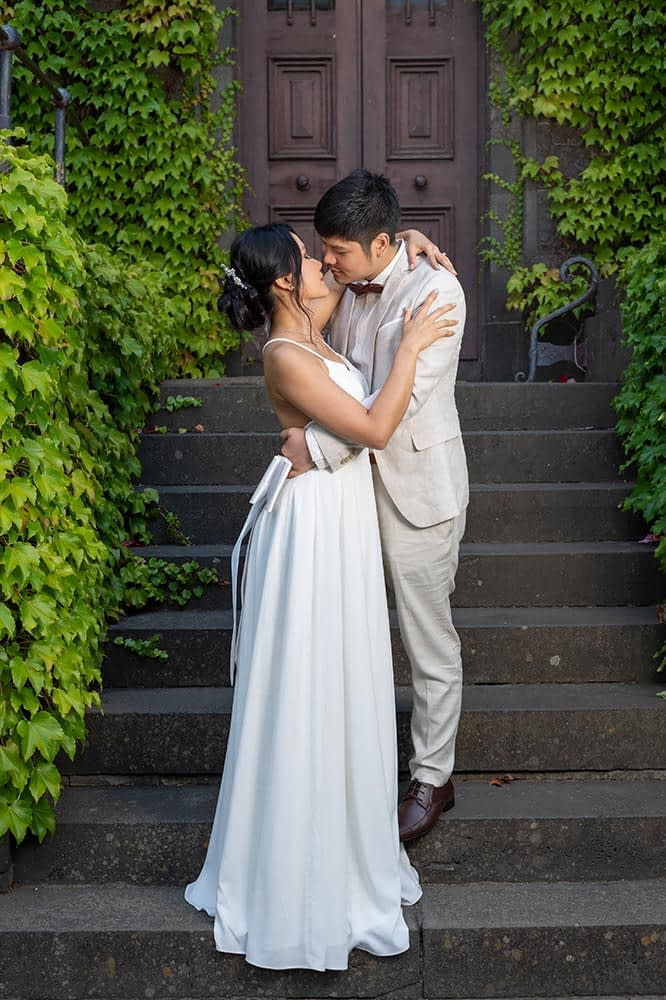 Wedding photography Melbourne Victoria Barracks bride groom location portrait
