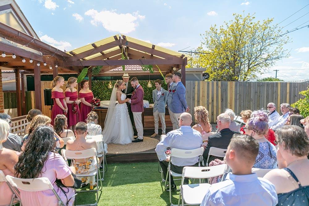 Wedding photography Melbourne Kaityln Levi bride groom ceremony 10