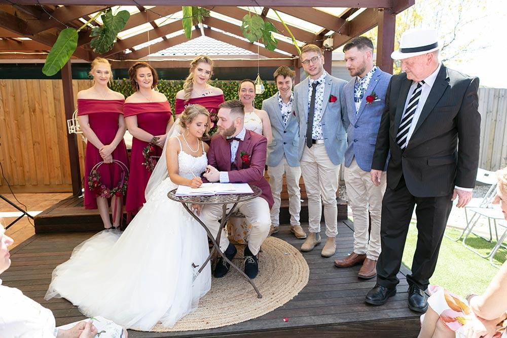 Wedding photography Melbourne Kaityln Levi bride groom ceremony 12