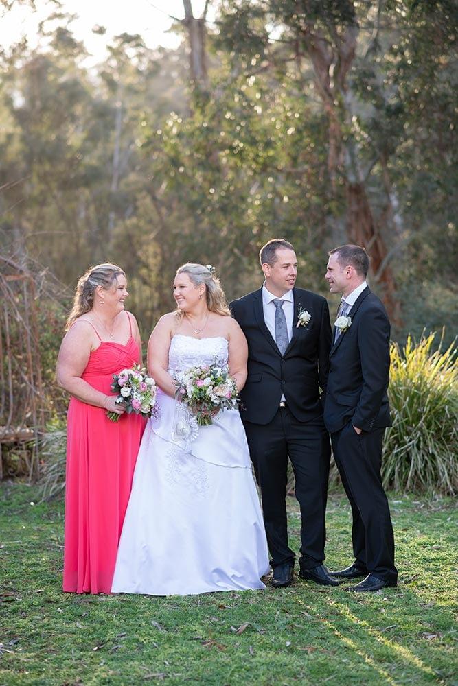 Wedding Photography Melbourne bride groom bridesmains location portrait Cara