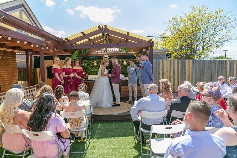 Wedding photography Melbourne Kaityln Levi bride groom ceremony 11