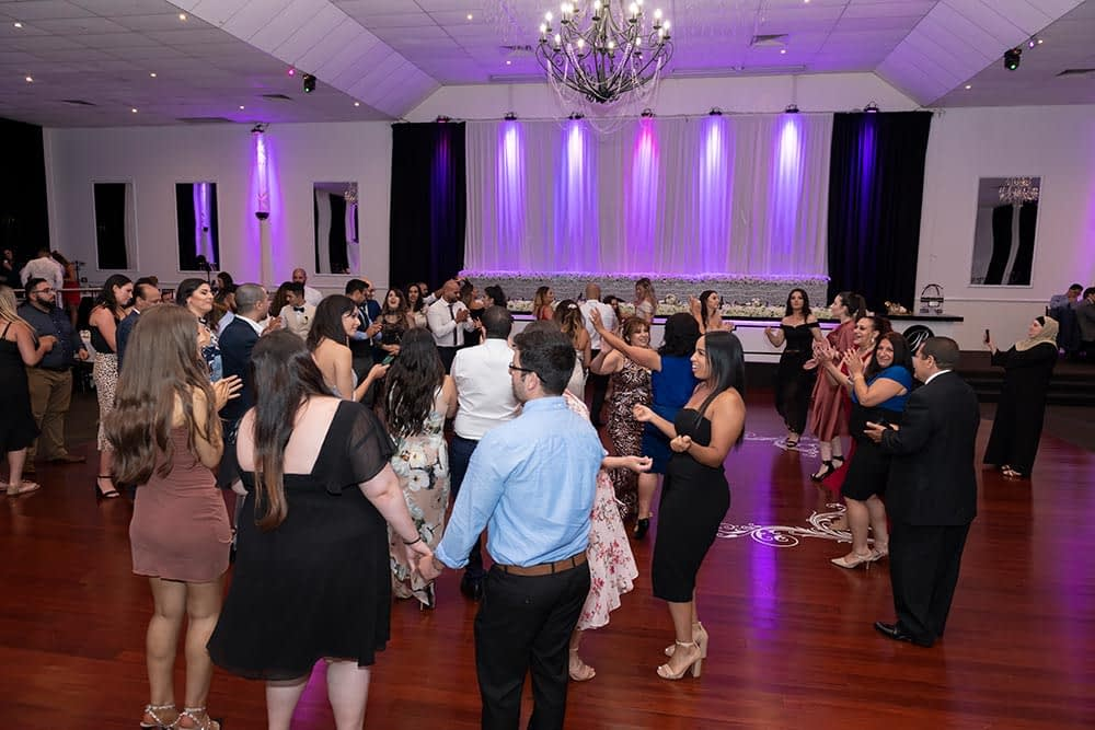 dance floor at wedding reception