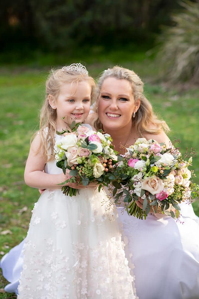 Wedding Photography Melbourne bride flower girl Care