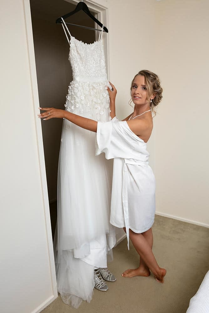 wedding photography Melbourne bride geting ready Kaitlyn