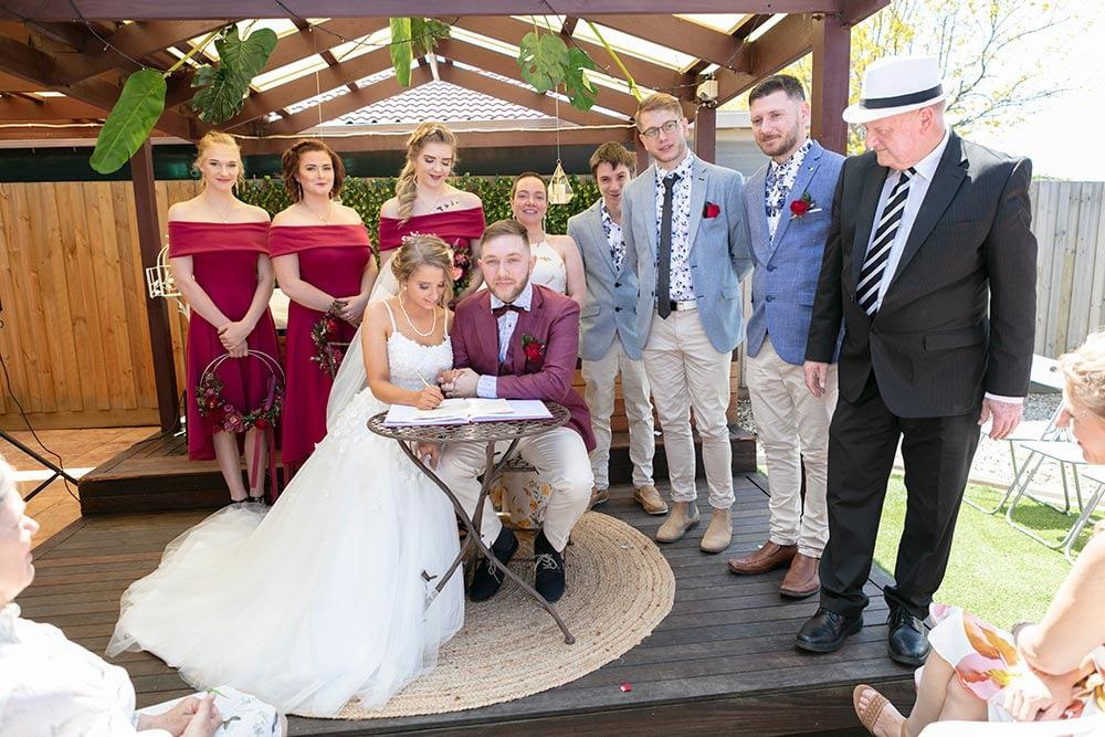 Wedding photography Melbourne Kaityln Levi bride groom ceremony 13