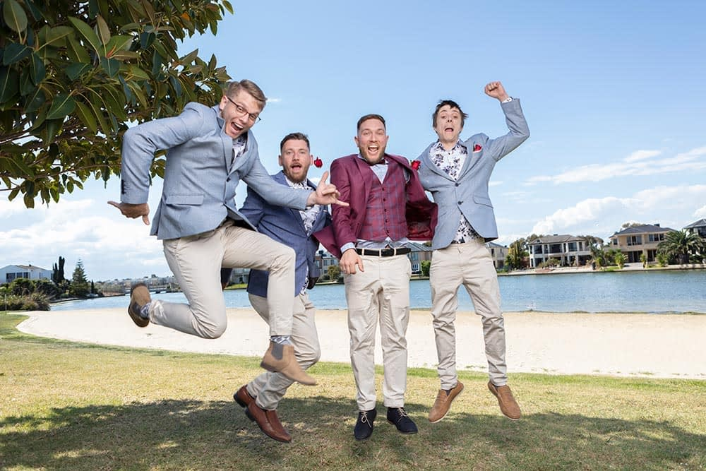 Wedding photography Melbourne groommen Kath