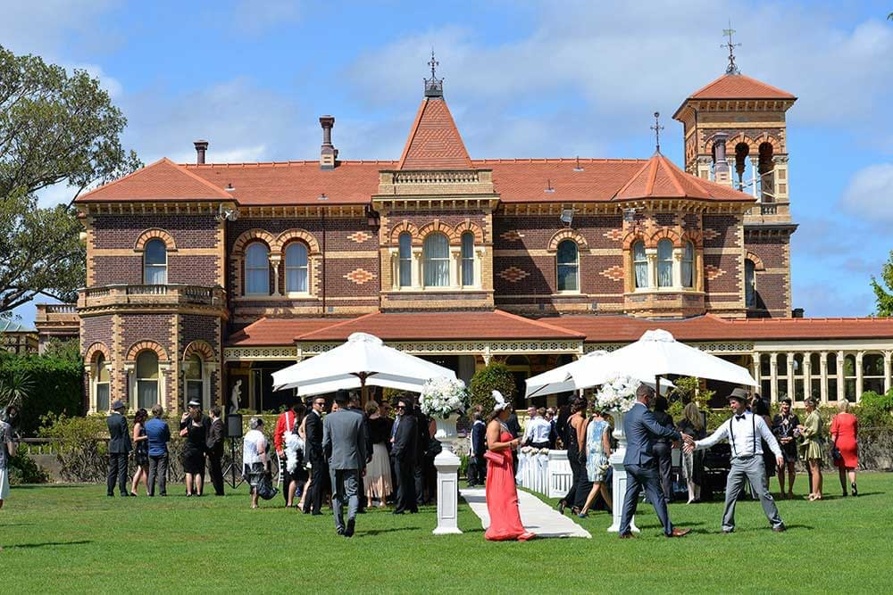 wedding reception at Ripponlea