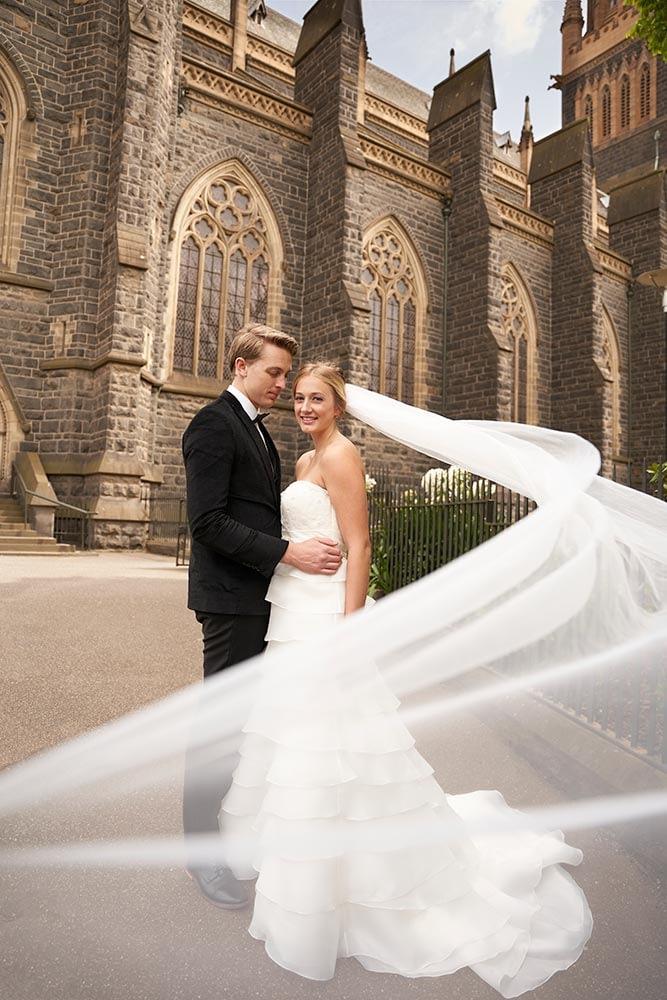 Wedding photography Melbourne church Caley Branden 2